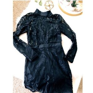 Misguided Black Lace Dress